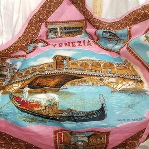 B7,941 Venezia Pink Blue Scarf Italian Pictures
